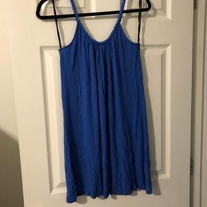 Fashion Bug sz M flowy blue braided strap dress